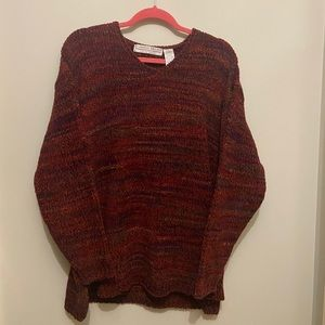 Carolyn Taylor red sweater